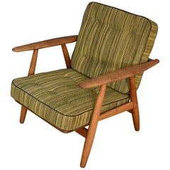 Hans Wegner GE240 Cigar Chair with Original Upholstery