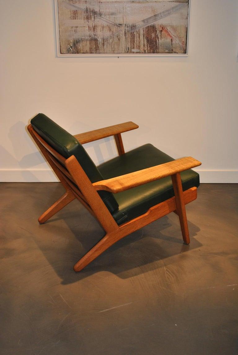 Hans Wegner Ge290 Lounge Chair Original 1950s For Sale