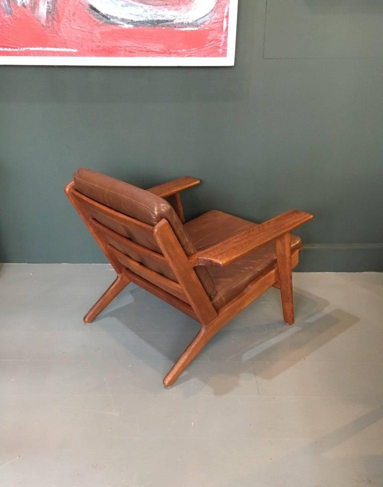 Hans Wegner Ge290 Lounge Chair Original 1950s