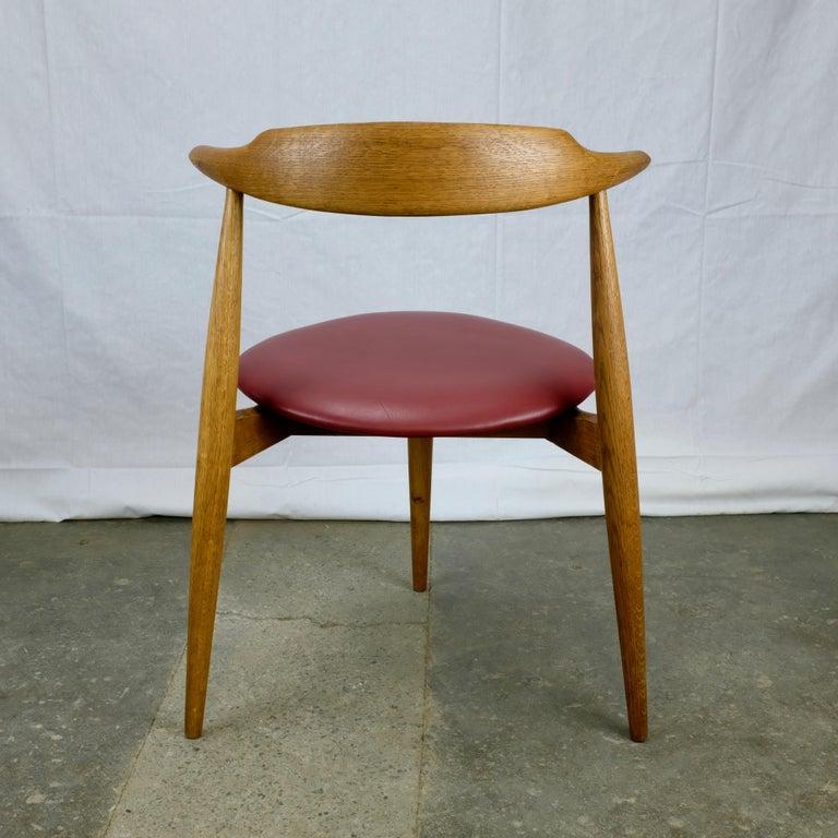 Danish Hans Wegner Heart Chair in Oak For Sale