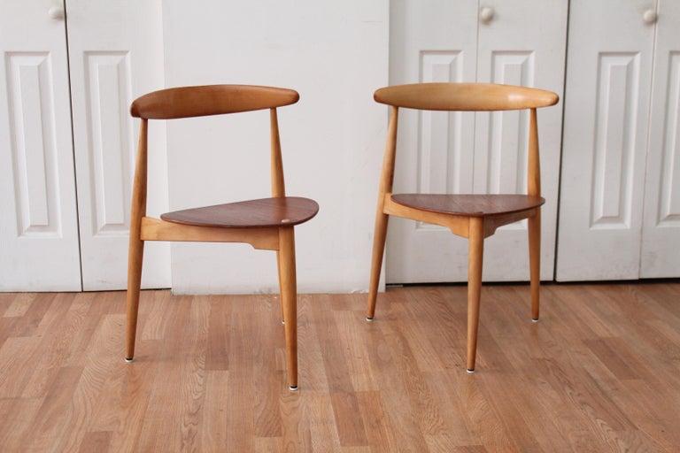 Hans Wegner Heart Chairs For Sale 4