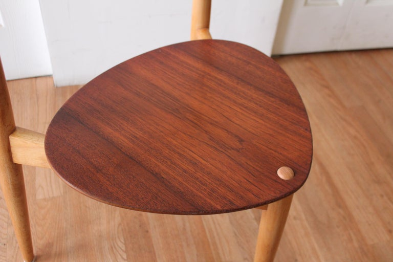 Mid-20th Century Hans Wegner Heart Chairs For Sale