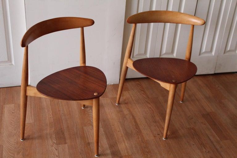 Hans Wegner Heart Chairs For Sale 1