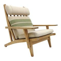 Hans Wegner High Back Lounge Chair, Model GE-375, 1970