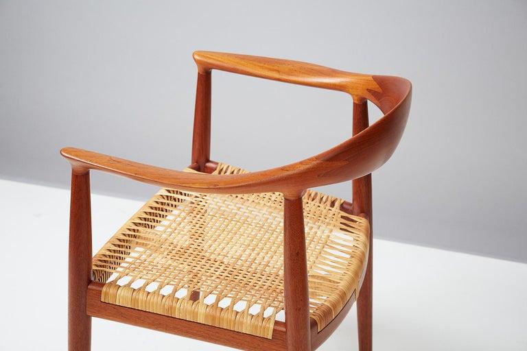 Danish Hans Wegner JH-501 Chair, Teak For Sale
