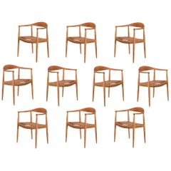 Hans Wegner JH-501 Dining Chair, Set of Ten