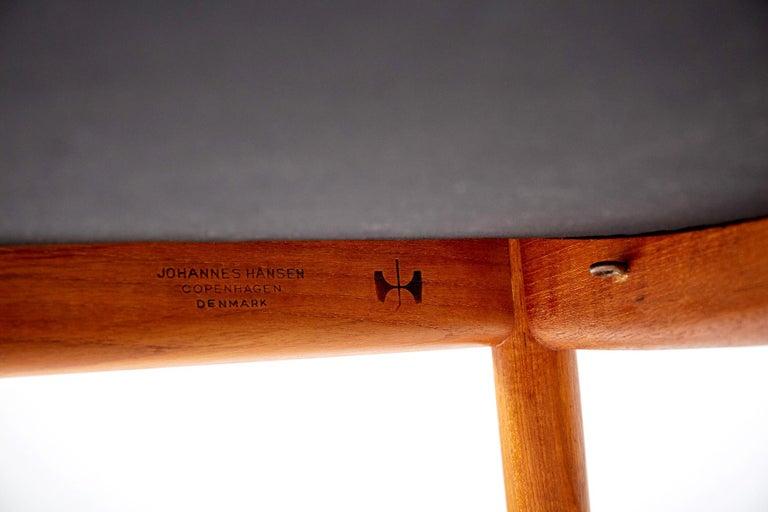 Leather Hans Wegner JH-503 Chair, Teak For Sale