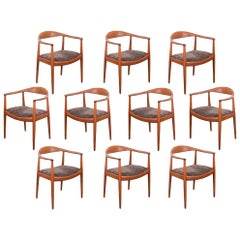 Hans Wegner JH-503 Round Chairs, Set of 10