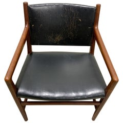 Hans Wegner JH-507 Armchair in Teak and Leather