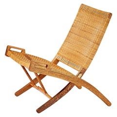 Hans Wegner JH-512 Oak Folding Chair, 1949
