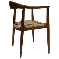 "Hans Wegner JH501 ""The Chair"" in Oak and Cane by Johannes Hansen"