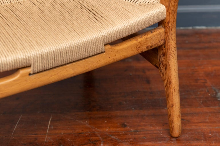 Hans Wegner Lounge Chair CH 22 In Good Condition For Sale In San Francisco, CA