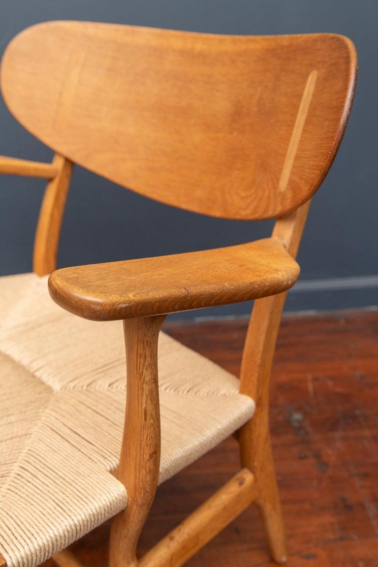 Hans Wegner Lounge Chair CH 22 For Sale 1