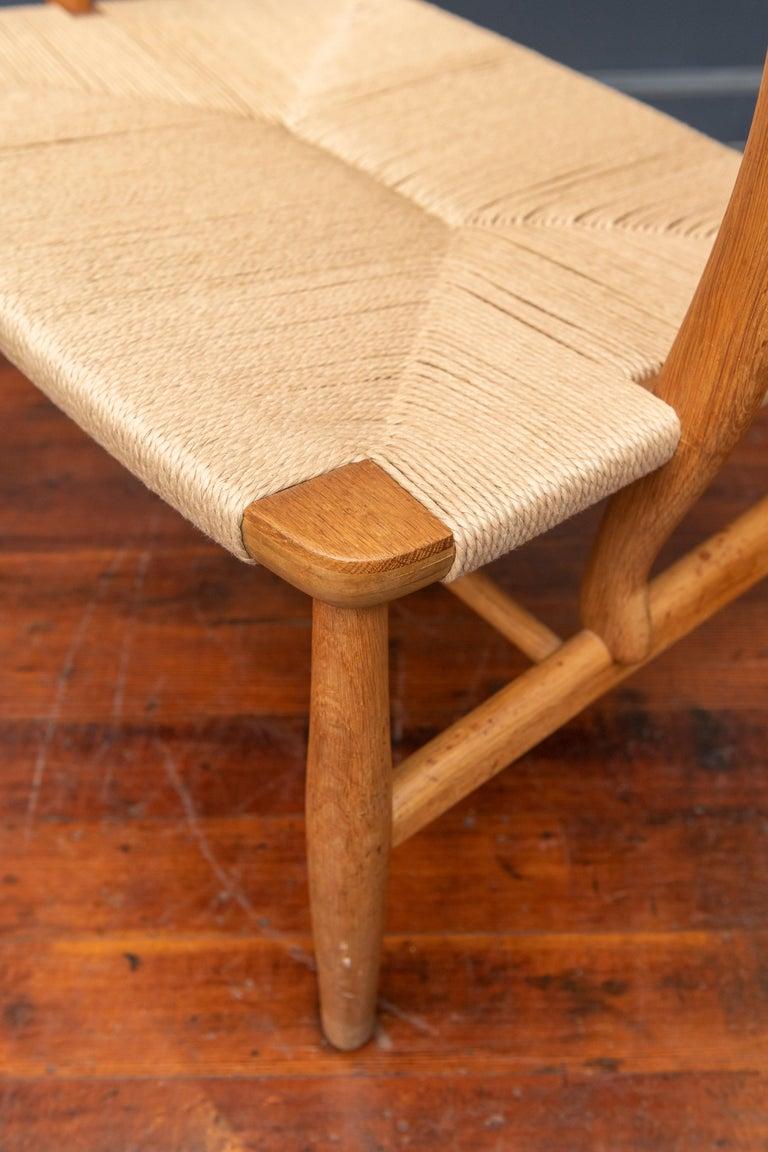 Hans Wegner Lounge Chair CH 22 For Sale 2