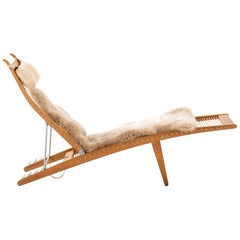 Hans Wegner Lounge Chair Model JH-524 by Cabinetmaker Johannes Hansen in Denmark