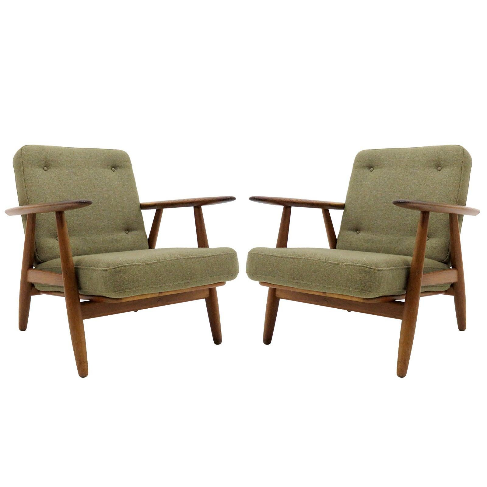 Hans Wegner Lounge Chairs, Model GE-240