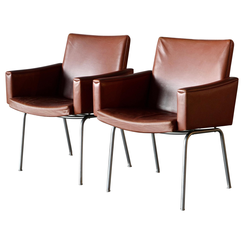 """Hans Wegner """"Lufthavnsstole"""" Chairs by AP Stolen"""