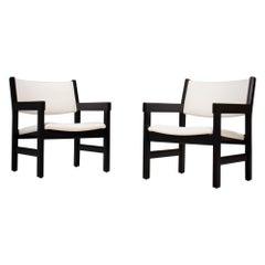 Hans Wegner Midcentury Armchairs for GETAMA, Set of Two