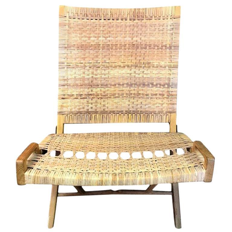 Hans Wegner Midcentury Original Classic JH-512 Folding Lounge Chair, 1950s For Sale