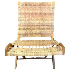 Hans Wegner Midcentury Original Classic JH-512 Folding Lounge Chair, 1950s