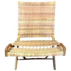 Hans Wegner Midcentury Original Classic JH-512 Folding Lounge Chair, 1950s