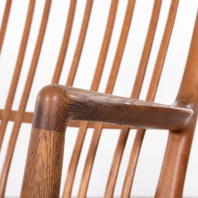 Hans Wegner ML33 Rocking Chair in Teak for Mikael Laursen, Denmark For Sale 4