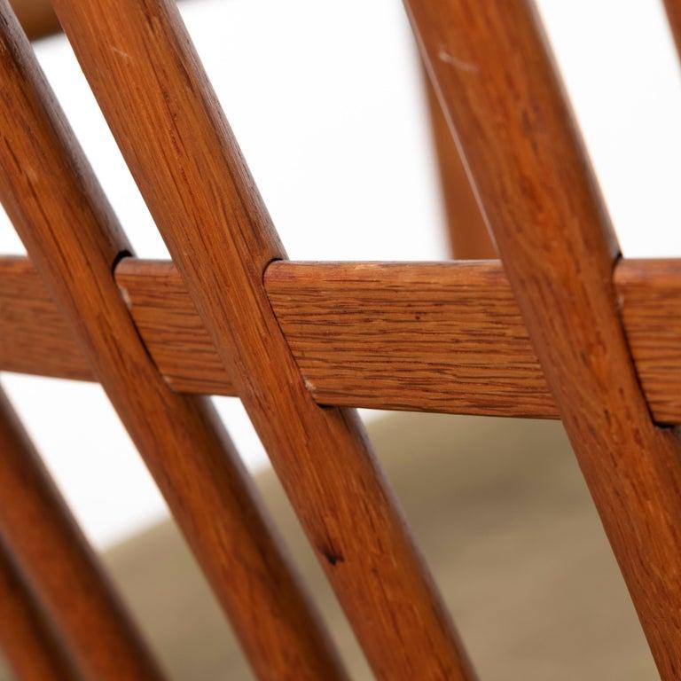 Hans Wegner ML33 Rocking Chair in Teak for Mikael Laursen, Denmark For Sale 8