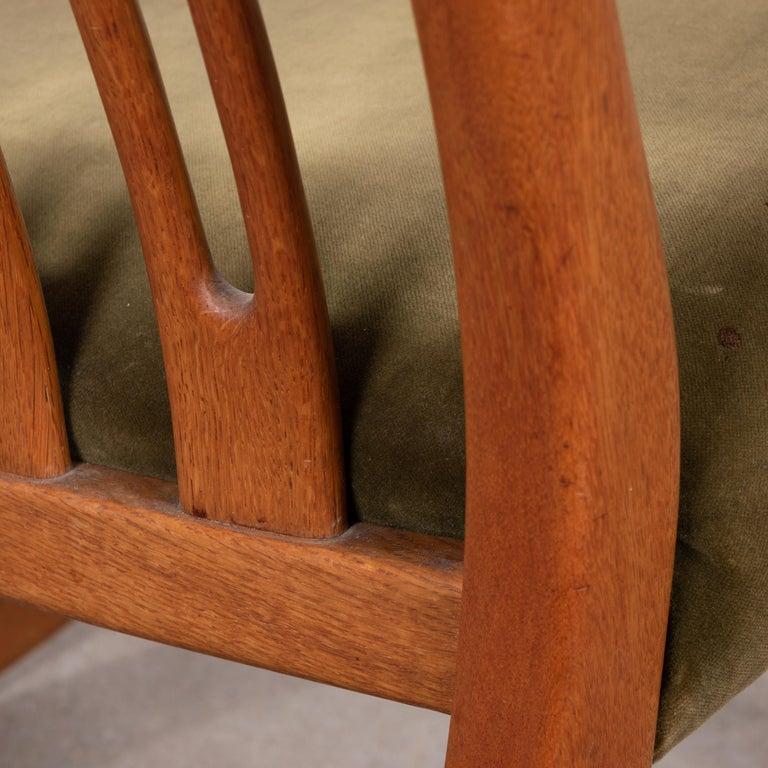 Hans Wegner ML33 Rocking Chair in Teak for Mikael Laursen, Denmark For Sale 9