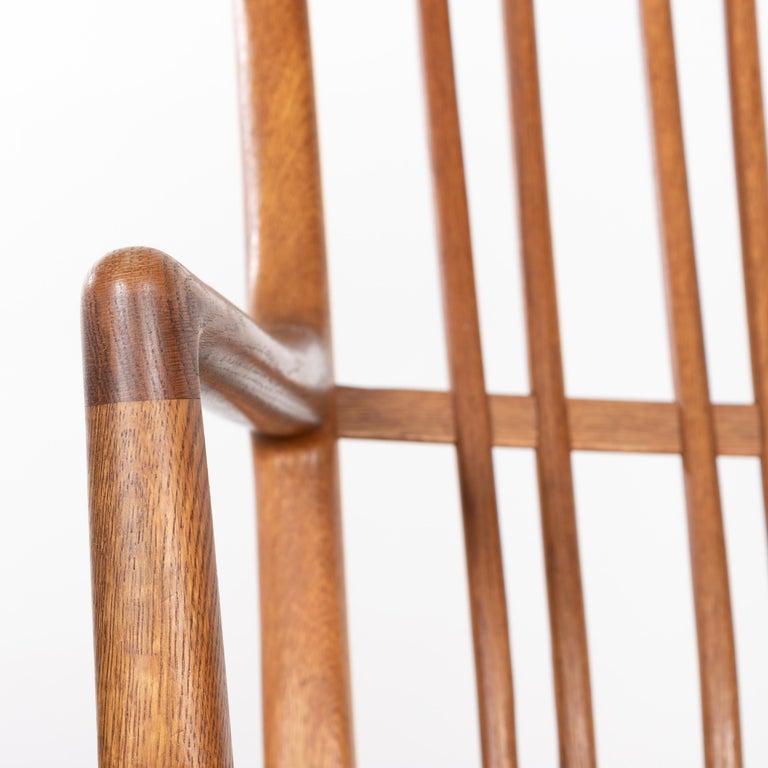 Hans Wegner ML33 Rocking Chair in Teak for Mikael Laursen, Denmark For Sale 11