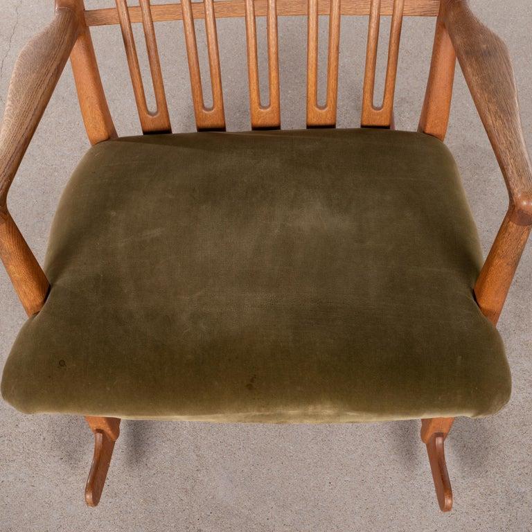 Hans Wegner ML33 Rocking Chair in Teak for Mikael Laursen, Denmark For Sale 13