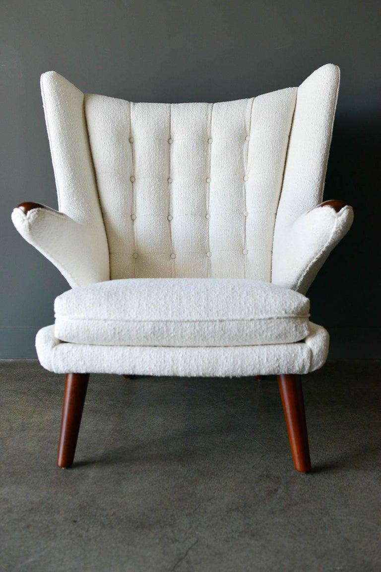 Scandinavian Modern Hans Wegner Model AP-19 'Papa Bear' Chair, circa 1955 For Sale
