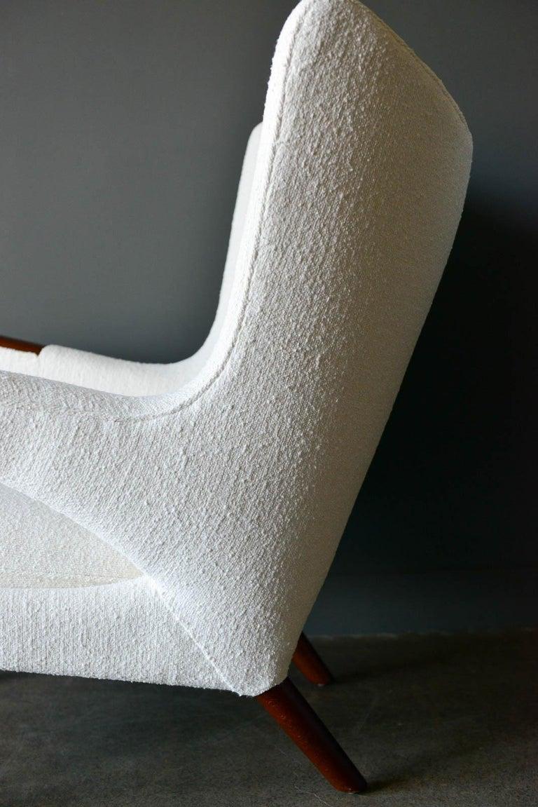 Fabric Hans Wegner Model AP-19 'Papa Bear' Chair, circa 1955 For Sale