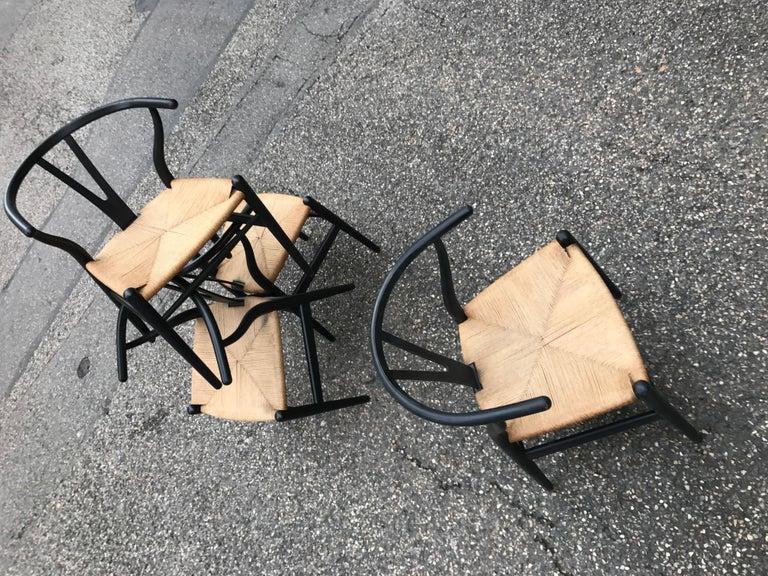 Mid-Century Modern Hans Wegner Model CH24 Four Chairs For Sale