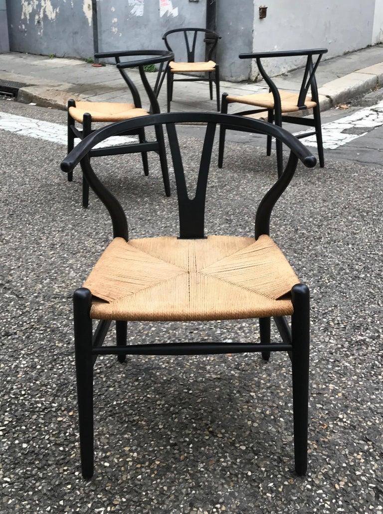 Danish Hans Wegner Model CH24 Four Chairs For Sale