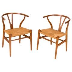 """Hans Wegner Model CH24 """"Wishbone Chair"""" for Carl Hansen & Son, Denmark 1960s"""