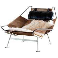 Hans Wegner Model GE 225 Flag Halyard Lounge Chair for Getama, Denmark, 1960s