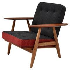 Hans Wegner Model GE240 Oak & Teak Cigar Chair For Getama