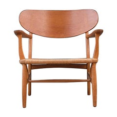 Hans Wegner Oak and Papercord CH2 Chair