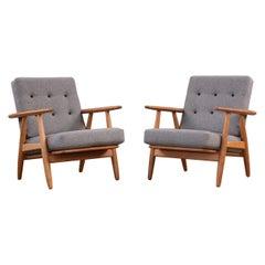 Hans Wegner Oak Cigar Chairs