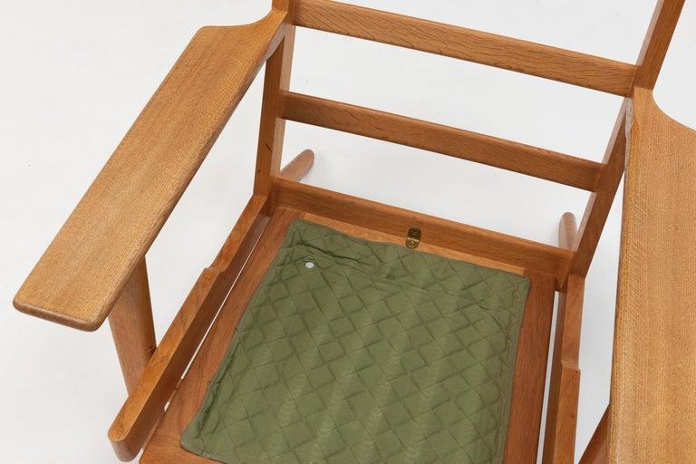 Hans Wegner Oak Lounge Chair GE290 by GETAMA '1 of 3 Chairs' 5