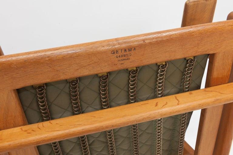 Hans Wegner Oak Lounge Chair GE290 by GETAMA '1 of 3 Chairs' 6