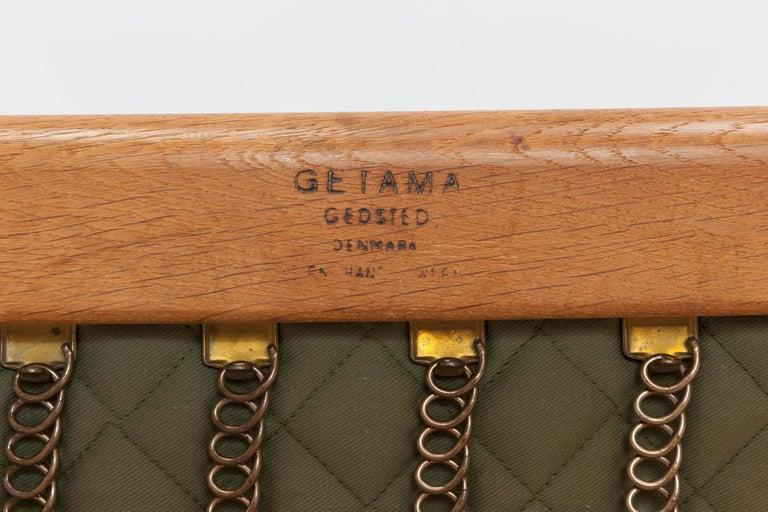 Hans Wegner Oak Lounge Chair GE290 by GETAMA '1 of 3 Chairs' 7