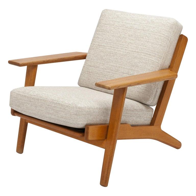 Hans Wegner Oak Lounge Chair GE290 by GETAMA '1 of 3 Chairs'