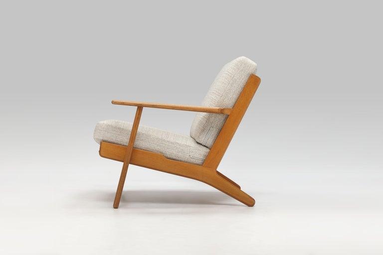 Danish Hans Wegner Oak Lounge Chair GE290 by GETAMA