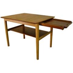 Hans Wegner Occasional or End Tray Table in Oak and Teak, 1950s, Denmark