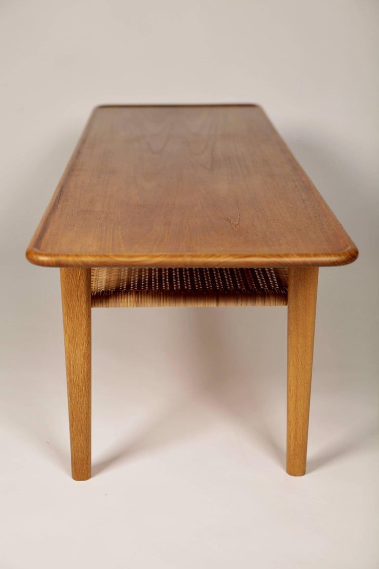 Hans Wegner Occasional Table AT-10 by Andreas Tuck, 1950s For Sale 2