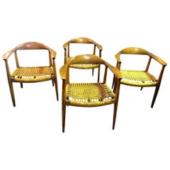 Hans Wegner Original Danish JH-501 Chairs by Johannes Hansen for Knoll, Set of 4
