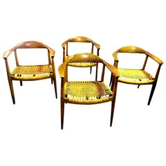 Hans Wegner Original Danish JH-501 Chairs by Johannes Hansen for Knoll, Set of 4