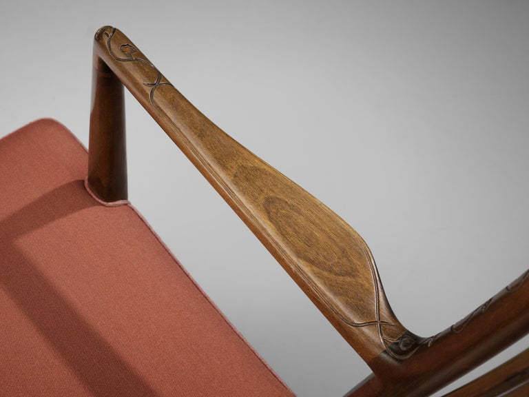 Hans Wegner Pair of Early 'ML-33' Rocking Chairs For Sale 3