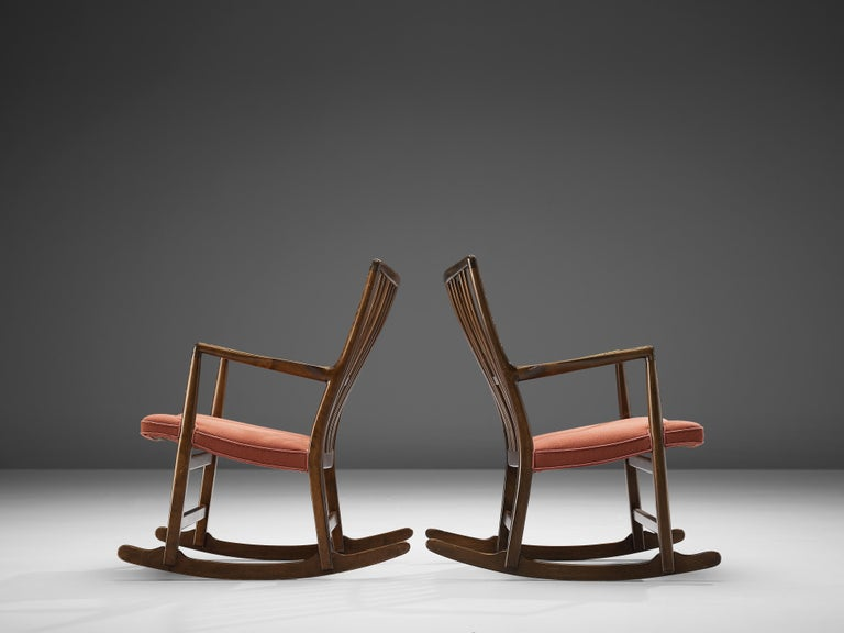 Hans Wegner Pair of Early 'ML-33' Rocking Chairs For Sale 4